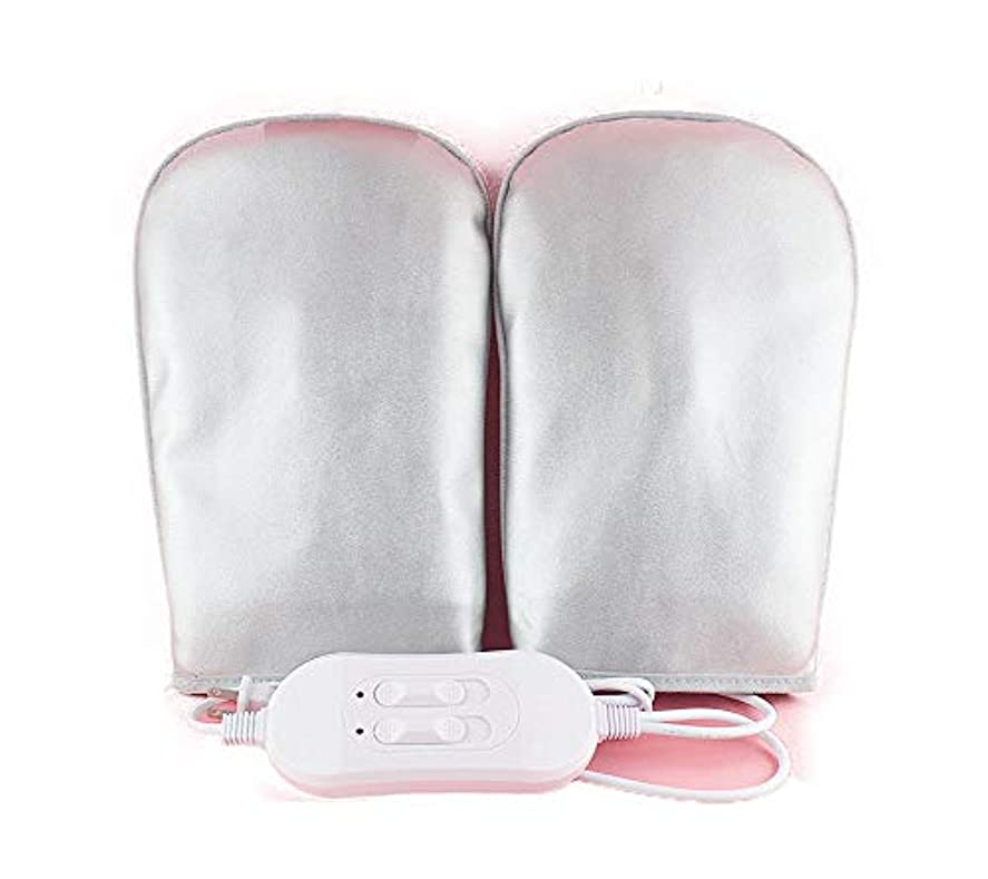 ウイルスダニ貼り直す3レベルの温度と3レベルの振動30で防水する電動手と腕のウォーマー振動マッサージグローブ