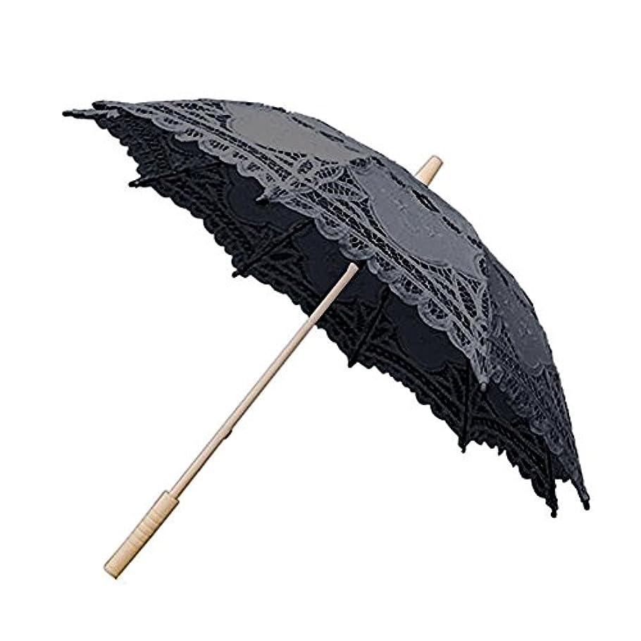教育者続ける織るlacyieヨーロピアスタイル 透かし彫り日傘 手作りブラックレース傘 結婚式の装飾傘 子供傘姫レース傘 カスタムギフト傘
