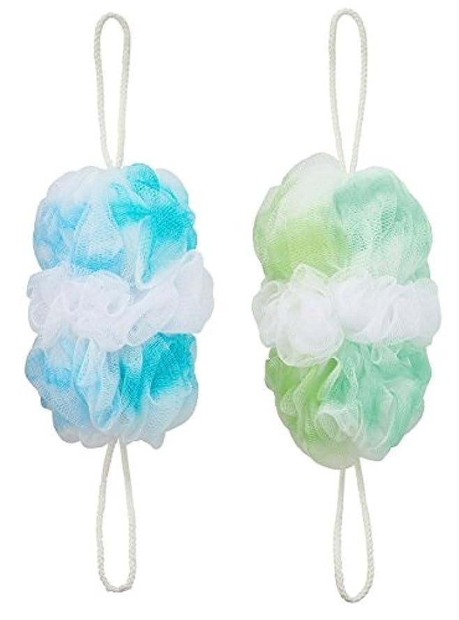 マーナ 背中も洗えるシャボンボールオーロラ2色セット(B&G)