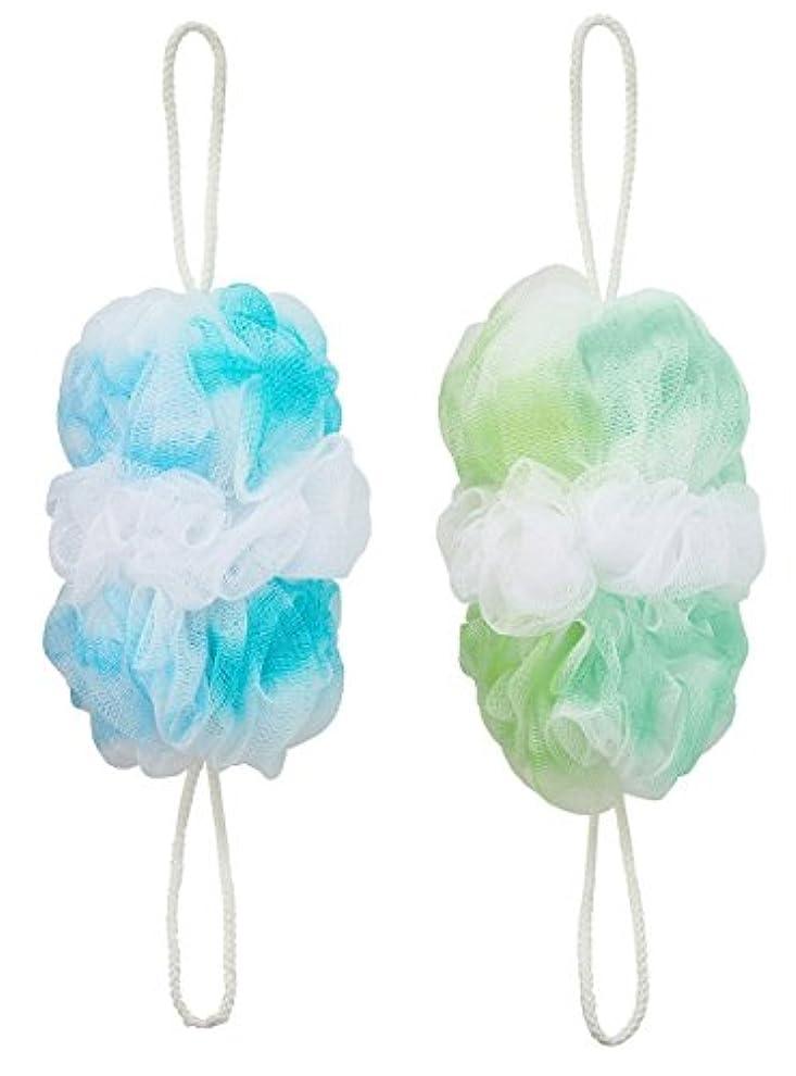お勧め原理スクラブマーナ 背中も洗えるシャボンボールオーロラ2色セット(B&G)