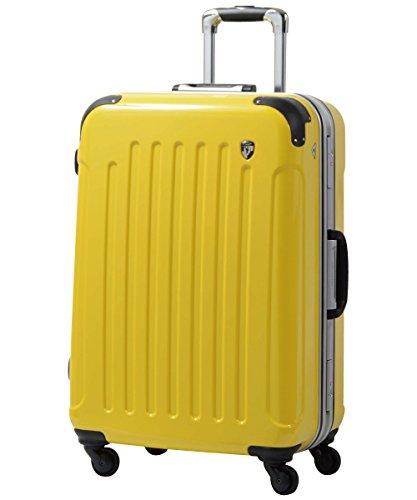 S型 レモンイエロー / newPC7000 スーツケース キャリーバッグ TSAロック搭載 鏡面加工 (1~3日用)