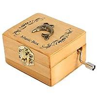 Nitrip 木製オルゴール オルゴール 手のクランク レトロオルゴール クリエイティブ アンティーク トーン純粋なオルゴール 誕生日プレゼント(7116J-06)