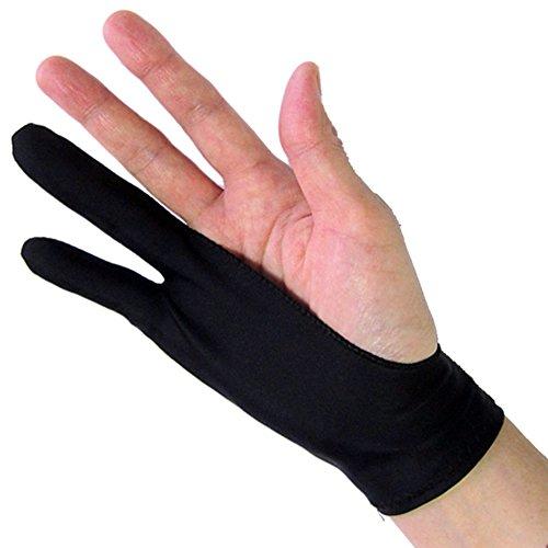 メディアカバーマーケット 【ペンタブレット 2本指 グローブ】 トレース台 右利き 左効き 両用 手袋 Mサイズ