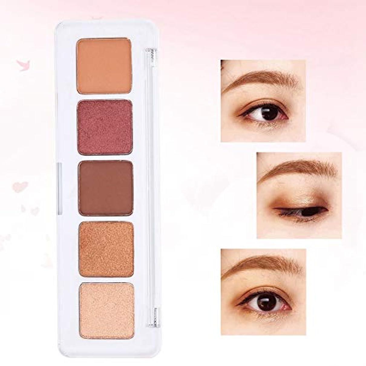 設計図バラ色オペレーターアイシャドー アイシャドウパレット 5色 なめらかで長持ち ミニマットグリッターパレット、アイシャドー、ヌードアーストーン
