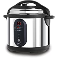 Emeril by T-fal CY4000 Nonstick Dishwasher Safe Electric Pressure Cooker, 6-Quart, Silver by T-fal