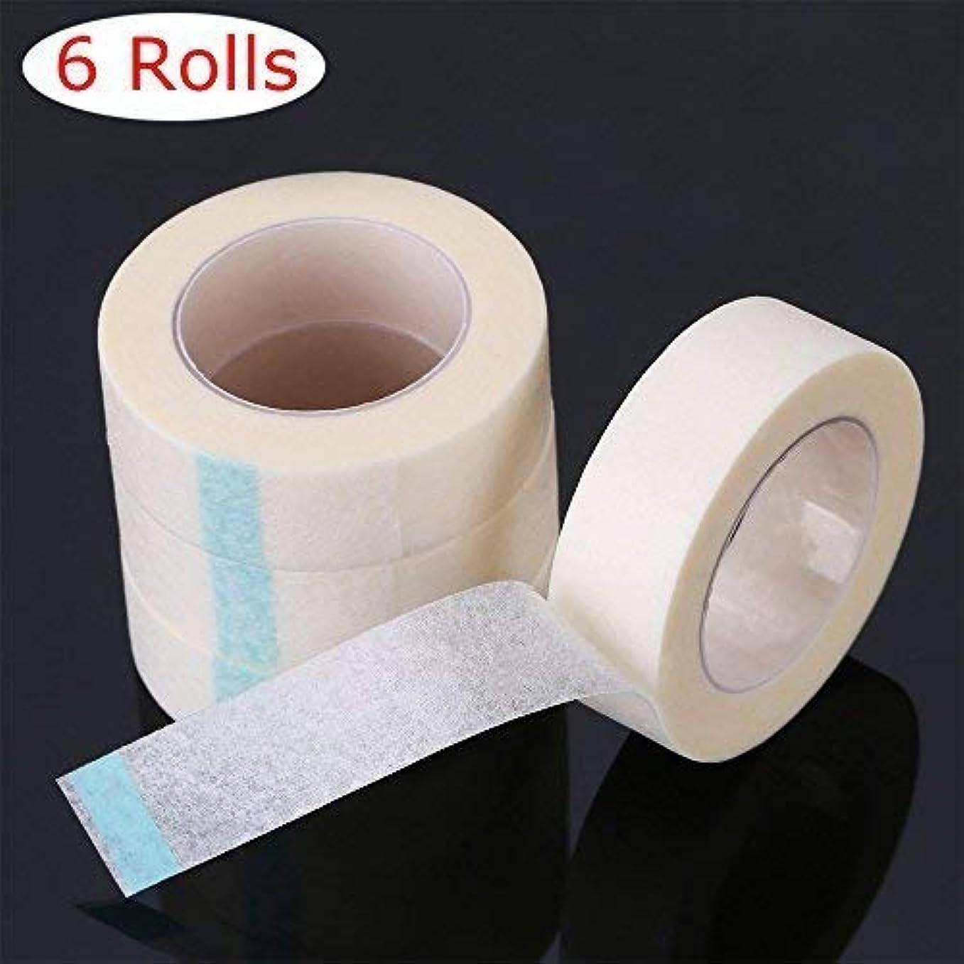 習慣最初に脳ATOMUS 6個 まつげテープ, まつげエクステ 下まつげ 保護テープ, 医療用テープまつげ拡張子, 低刺激 まつげエクステテープ