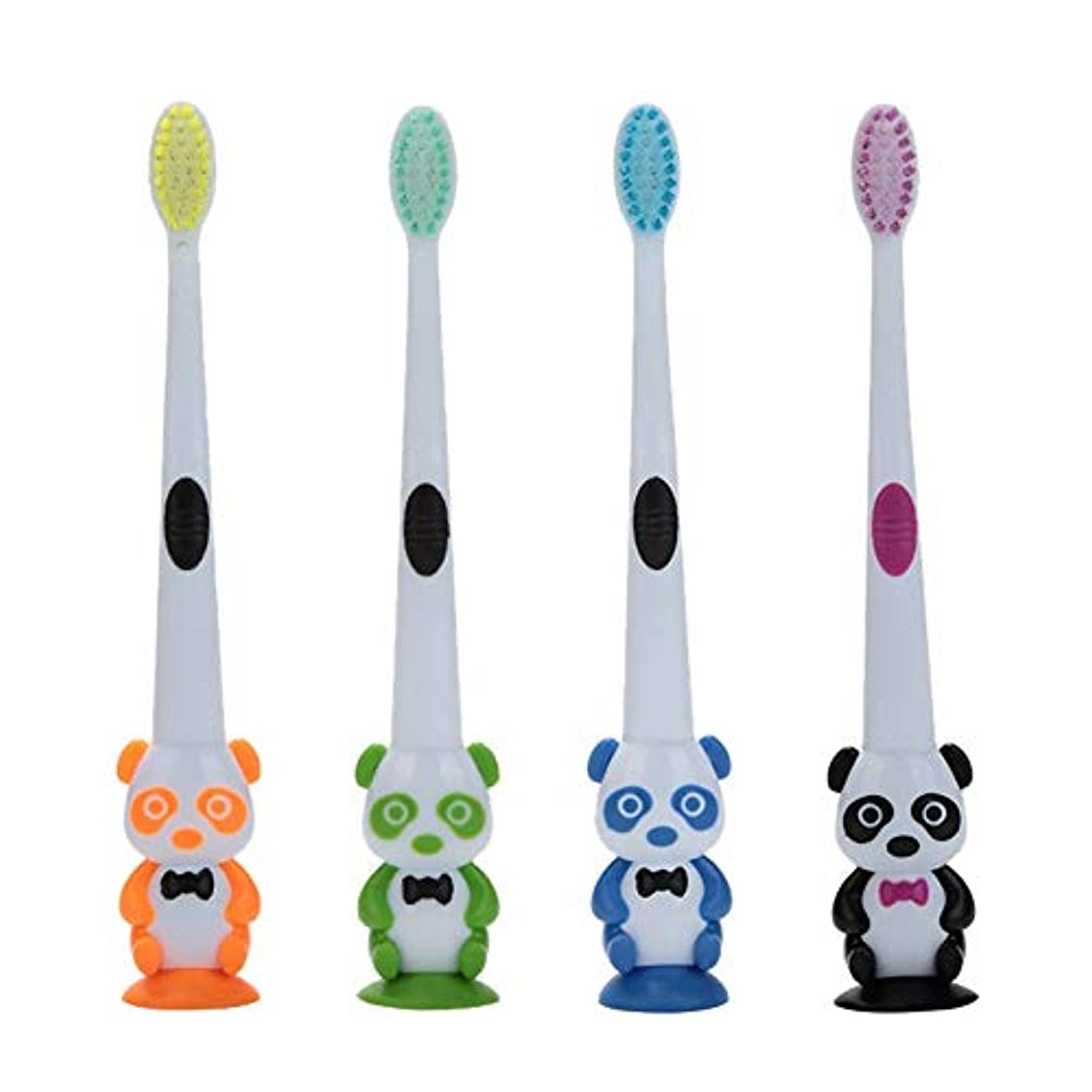 リール無意味上へRad子供 赤ちゃん漫画パンダ形状ソフト歯ブラシ子供歯科口腔ケアブラシツール歯ブラシ