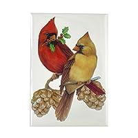 CafePress - Winter Cardinals Rectangle Magnet - Rectangle Magnet, 2x3 Refrigerator Magnet by CafePress