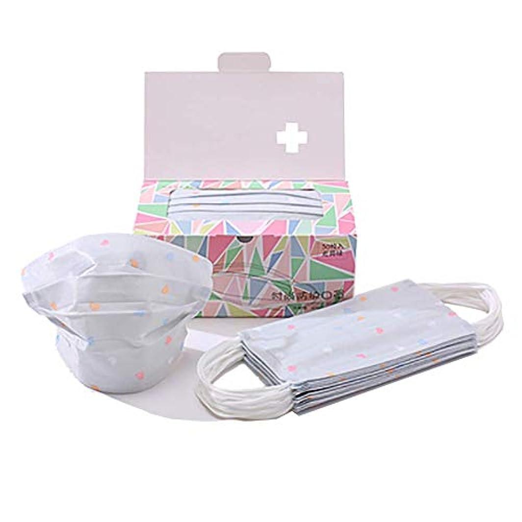 メタン生態学ブーストChinashow 100個使い捨てイヤループフェイスマスク - 歯科手術用医療アレルギーインフルエンザ低刺激性、通気性 生殖防塵マスク、灰色 愛