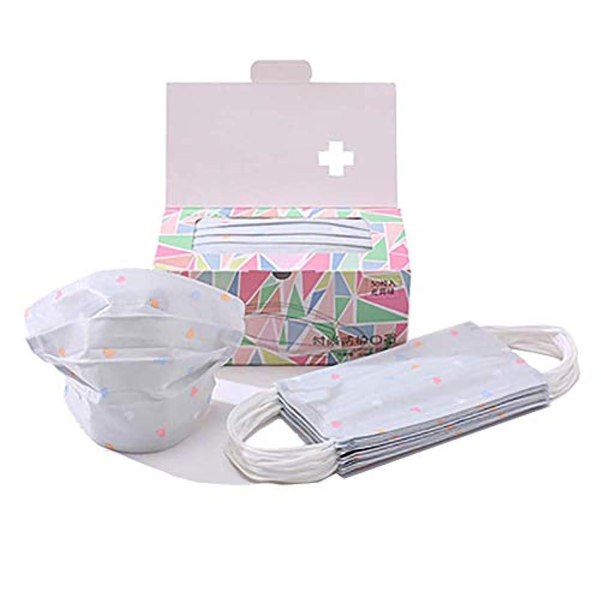 見る追放するスリンクChinashow 100個使い捨てイヤループフェイスマスク - 歯科手術用医療アレルギーインフルエンザ低刺激性、通気性 生殖防塵マスク、灰色 愛