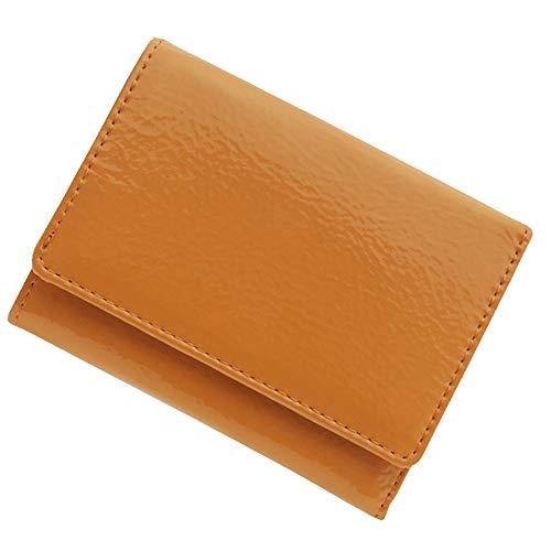極小財布(エナメル/牛革)ベーシック型小銭入れ BECKER(ベッカー)日本製 (オレンジ)