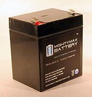 Mighty Maxバッテリーml5–12–12V 5Ah Replaces Zeus pc5–12x balt1–12ボルト5Ahセキュリティアラームバッテリーブランド製品