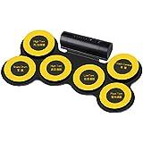 SHLIN-ドラム 子供の手ロール電子ドラム大人の携帯用子供の初心者の折るドラム練習手の電気ドラム (色 : 黄)