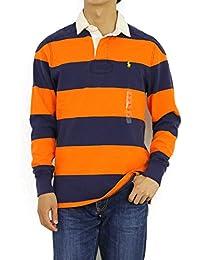 (ポロ ラルフローレン) POLO Ralph Lauren カスタムフィット メンズ 長袖ラガーシャツ ボーダー ワンポイント0103412 [並行輸入品]