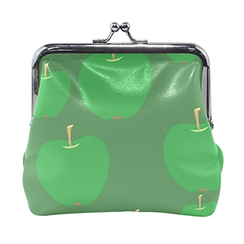 がま口 財布 口金 小銭入れ ポーチ 青いリンゴ Jiemeil バッグ かわいい 高級レザー 好評 買い得 レディース プレゼント ほど良いサイズ