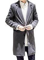 (ベルク) VELUC メンズ アウター コート チェスターコート ロングコート きれいめ 大人 かっこいい クール お洒落 カジュアル スタイリッシュ 4カラー M/L/XL/2XL ~ オリジナルメッセージカードセット ~