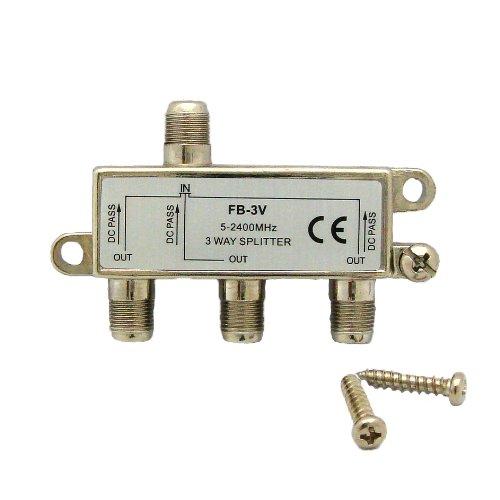 デジタル放送対応 アンテナ3分配器 全端子電通型 地上・BS・CS対応