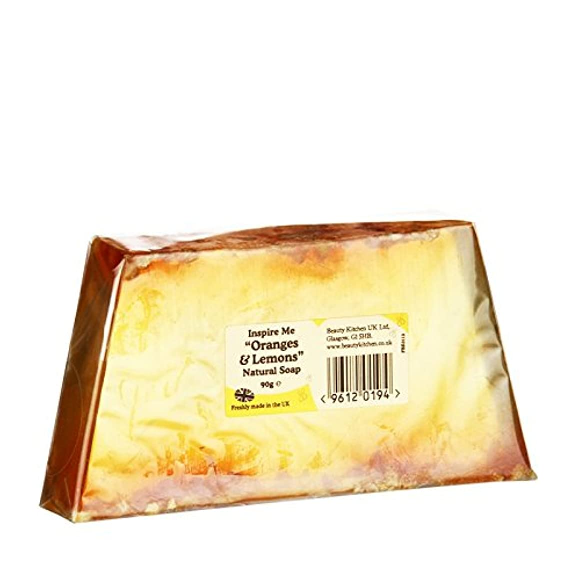 絶えず自殺断片Beauty Kitchen Inspire Me Orange & Lemon Natural Soap 90g (Pack of 6) - 美しさのキッチンは私がオレンジ&レモンの天然石鹸90グラム鼓舞します (x6...