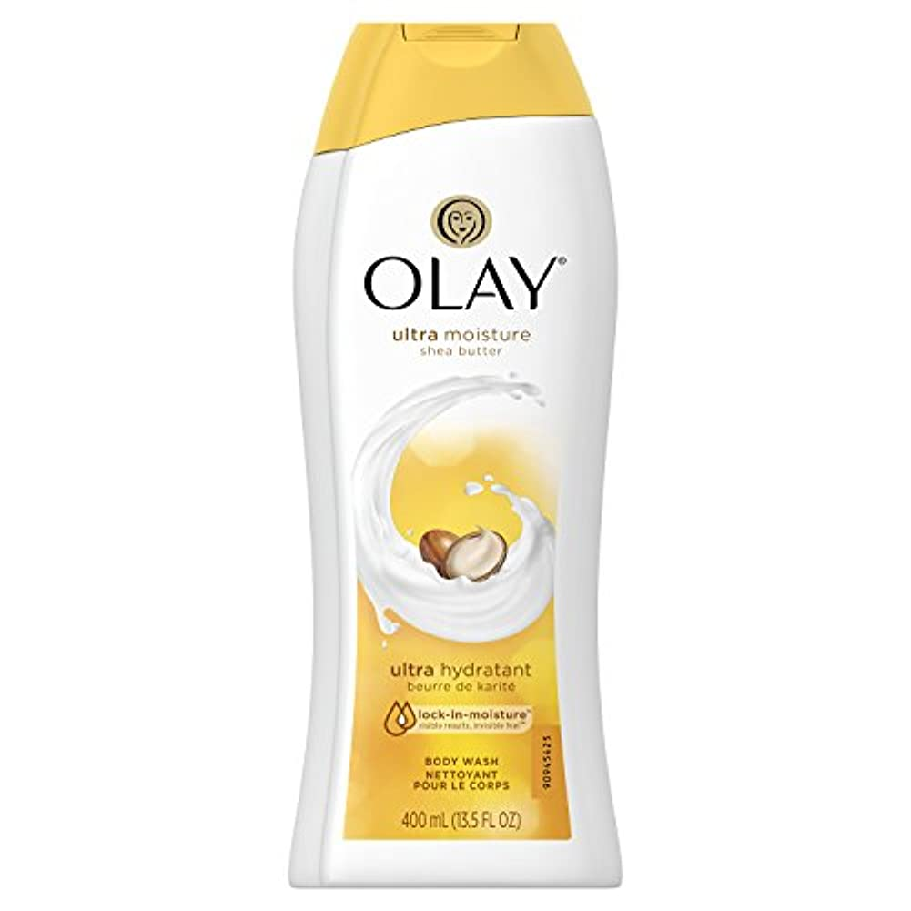 不透明な山岳ごちそうOlay Ultra Moisture Moisturizing Body Wash With Shea Butter, 13.5 oz. 2本セット