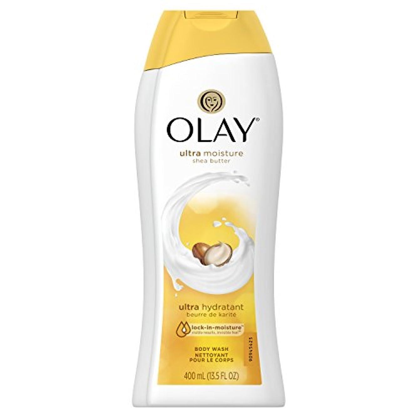 楕円形蒸発変化するOlay Ultra Moisture Moisturizing Body Wash With Shea Butter, 13.5 oz. 2本セット
