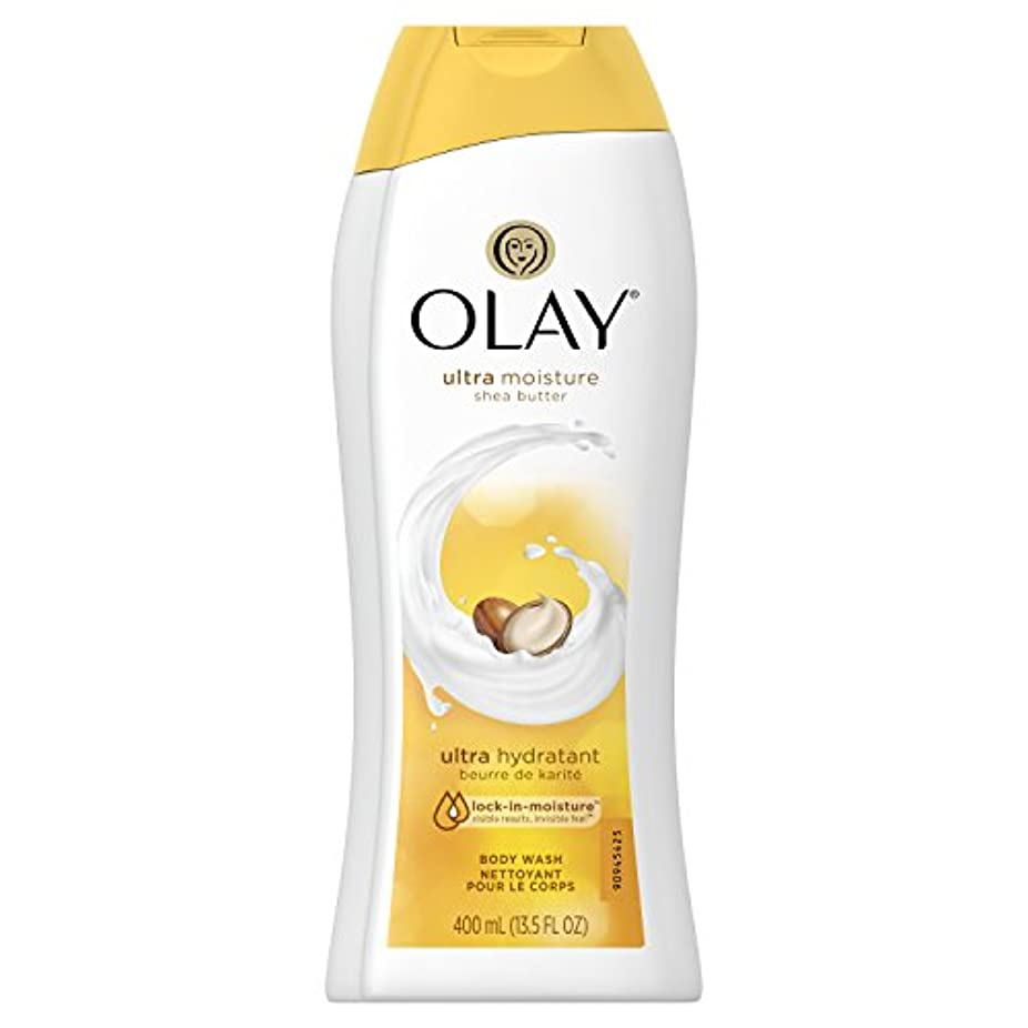 暖かく移行暫定のOlay Ultra Moisture Moisturizing Body Wash With Shea Butter, 13.5 oz. 2本セット