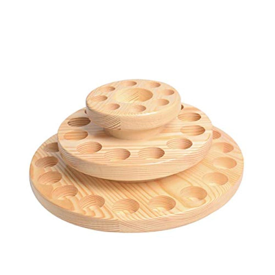 回る符号専門知識TINKSKY アロマオイルスタンド エッセンシャルオイル収納 精油 ディスプレイスタンド 木製 回転台 精油収納 見つけ易い 39本用
