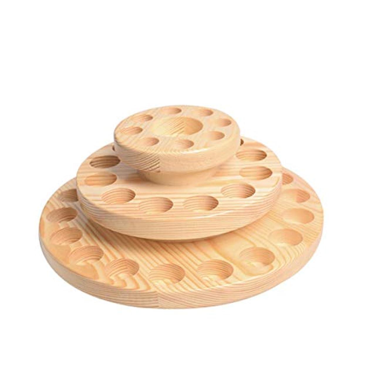 取り付けデコレーション会社TINKSKY アロマオイルスタンド エッセンシャルオイル収納 精油 ディスプレイスタンド 木製 回転台 精油収納 見つけ易い 39本用