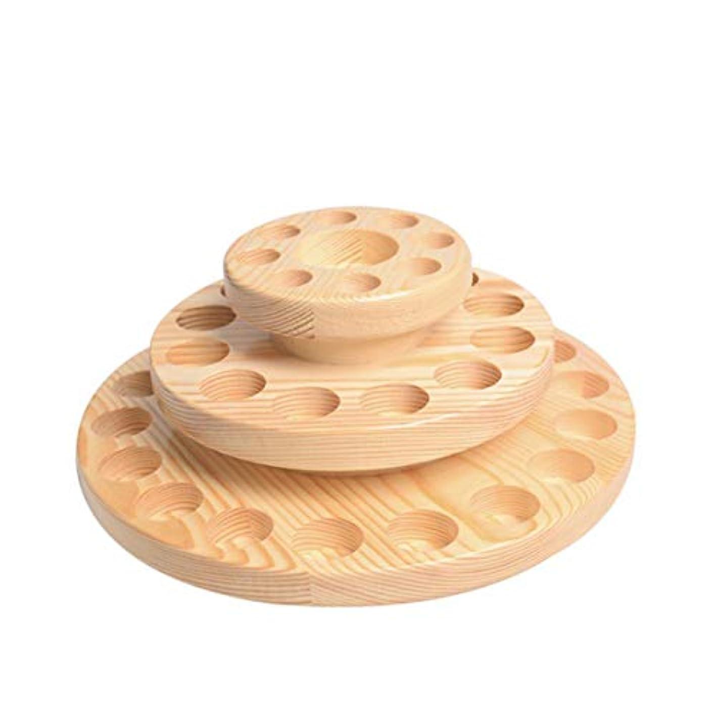 気をつけて先史時代のシャットTINKSKY アロマオイルスタンド エッセンシャルオイル収納 精油 ディスプレイスタンド 木製 回転台 精油収納 見つけ易い 39本用