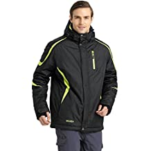 Krumba Mens Hooded Ski Jacket Sportswear Outdoor Waterproof Windproof Warm