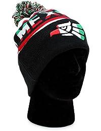 メキシコビーニーポンポン付き冬ニット帽子キャップMexican Eagle Soccer