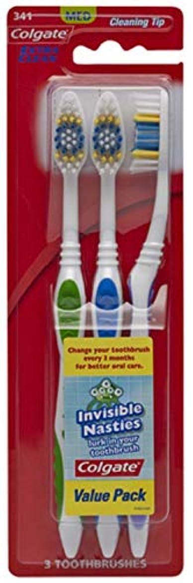 仲良し祭り宇宙Colgate エクストラクリーン歯ブラシ - ケースあたり24。