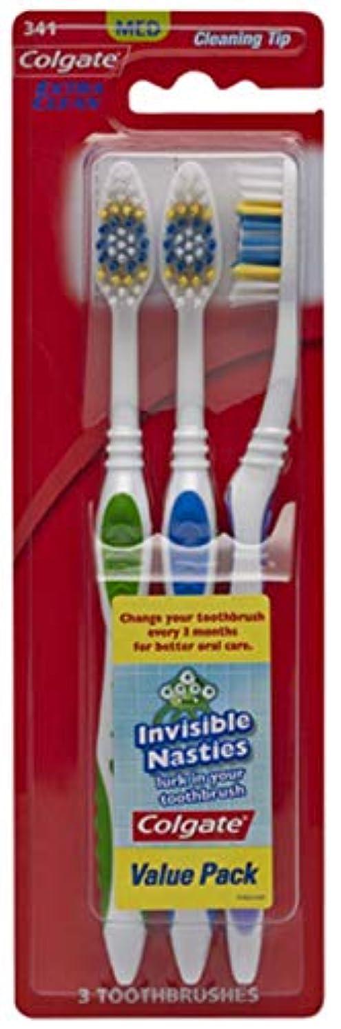 パステル机慢なColgate エクストラクリーン歯ブラシ - ケースあたり24。