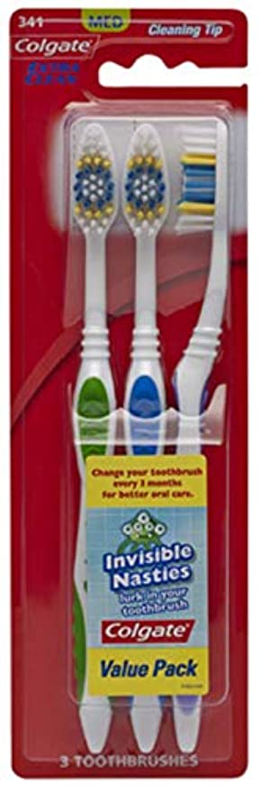 感心する適格海Colgate エクストラクリーン歯ブラシ - ケースあたり24。