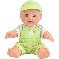 Tusalmo おもちゃ人形 12 インチ子供のおもちゃ、ビニール体赤ちゃん人形専門のおもちゃドール メーカーからの女の子のため (グリーン)