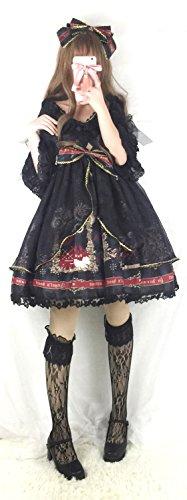 ab0fc308163e4 Hachigo (ハチゴウ) アリス 風 ゴスロリ ワンピース ドレス スカート フリル レース リボン ゴシック ロリータ Lolita