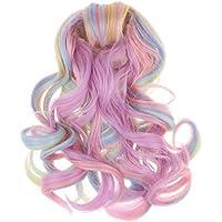 D DOLITY 18インチ アメリカンガール 人形髪 かつら ドールウィッグ 長波髪 DIY ヘアーアクセサリー 30cm