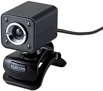 【2011年モデル】ELECOM WEBカメラ 130万画素 1/4インチCMOSセンサ ガラスレンズ・LEDライト搭載 マイク内蔵 イヤホンマイク付 ブラック UCAM-DLK130TBK