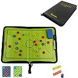 作戦盤 サッカーボード コーチ戦略指導 ファスナータイプ 専用ペン付き 持ち運び便利