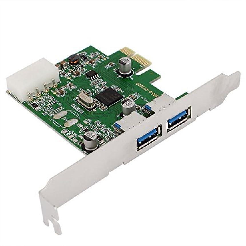 見物人利点不公平eDealMax 10/100 / 1000Mbps PCI PCI-E Express USB 3.0 2 アダプター レゾー カーテポート