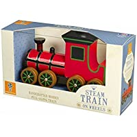 Orange Tree Toys Wooden Steam Pull Along Train [並行輸入品]