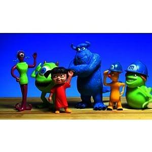 Triline Monsters University (モンスターズユニバーシティ) 6 Pcs Set Pvc アクションフィギュアs Monsters Inc Anime Mike Sully Toys Kids Best Gift Toy(並行輸入)