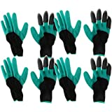 MagiDeal 4 Pairs Garden Genie Gloves with Fingertips Gardening on Right Hands fit Digging Planting for Women&Men
