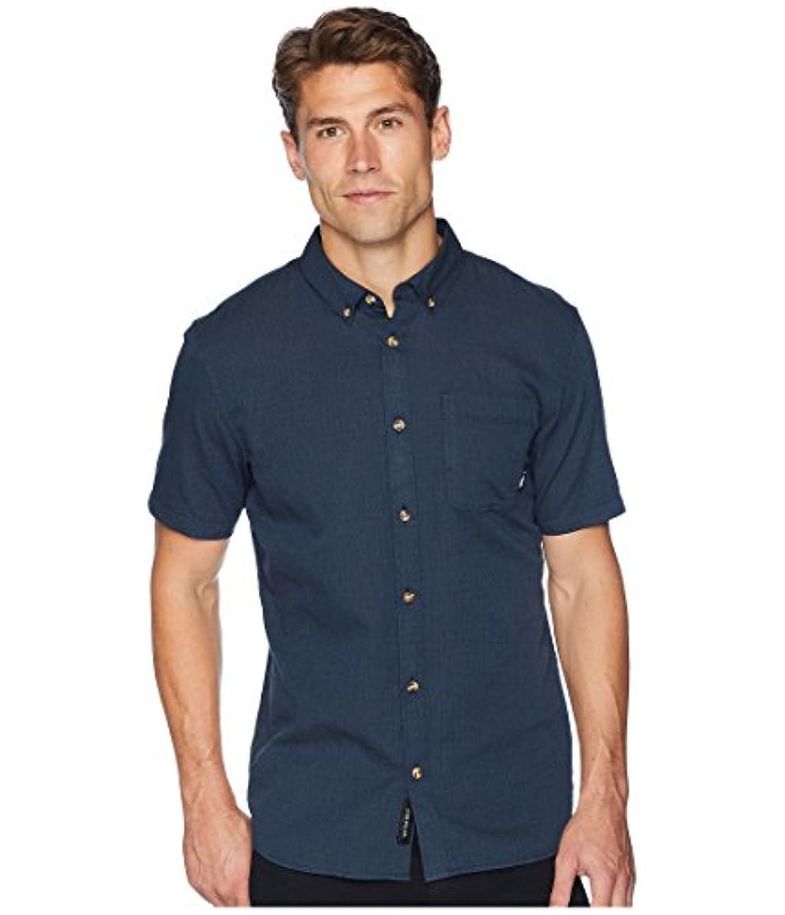フロント救い約束する[VANS(バンズ)] メンズシャツ?アウター Wakefield Short Sleeve Woven Dress Blues XL