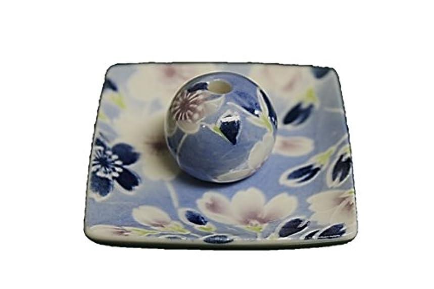 アロング理容師横向き青染桜 小角皿 お香立て 陶器 ACSWEBSHOPオリジナル