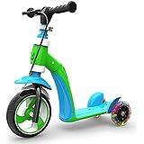 子供のスクーター子供の赤ちゃんはスライド多機能三輪キックスクーター子供の誕生日プレゼントに座ることができます ( Color : Green )