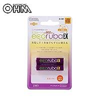 OHM エコルーバEX 充電式電池 単4×2本入 BT-JUTG4H 2P 【人気 おすすめ 通販パーク】