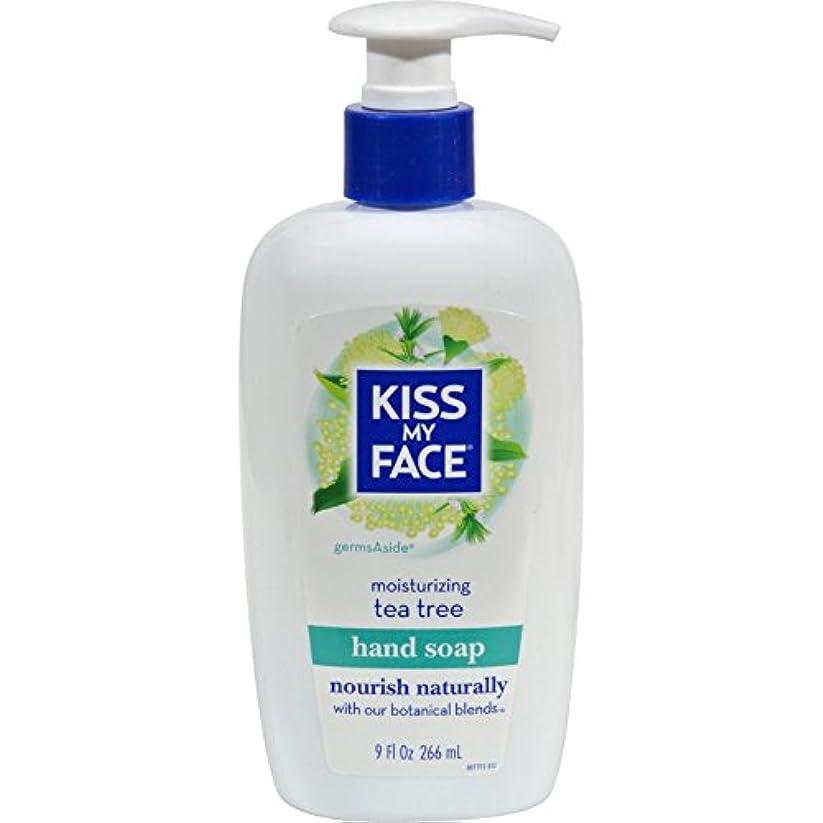 ピンチチチカカ湖急性Kiss My Face - 液体の水分手 Soap GermsAside ティー ツリー - 9ポンド