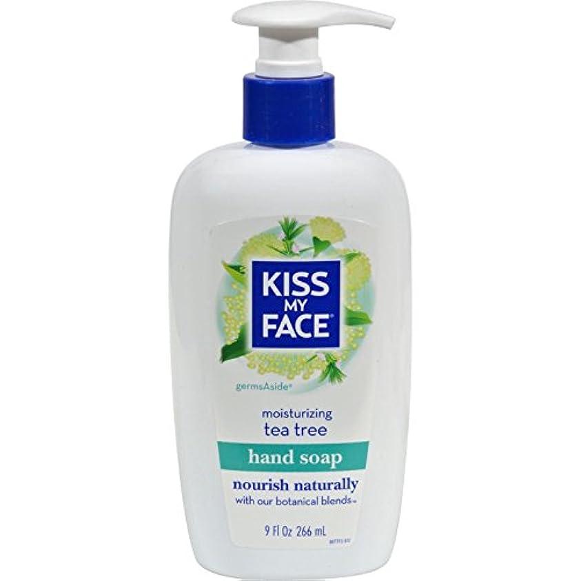大きさアラブ人ベースKiss My Face - 液体の水分手 Soap GermsAside ティー ツリー - 9ポンド