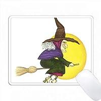 ハロウィーンの魔女のイラストを彼女の脚本で飛ばしてみよう PC Mouse Pad パソコン マウスパッド