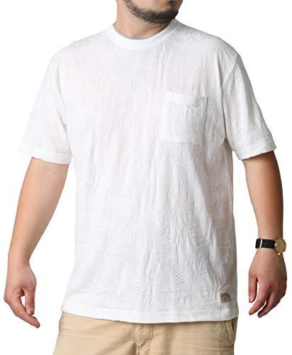[スミスアメリカン] 大きいサイズ メンズ Tシャツ 半袖 ポケット ホワイト 3Lサイズ:(身丈77cm 肩幅54cm 身幅63cm 袖丈25cm 胸囲106~114cm)